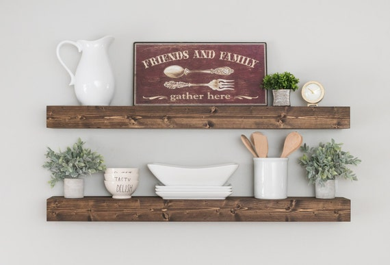 Floating Shelf Shelf Farmhouse Shelves Rustic Shelf | Etsy