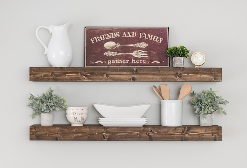 FREE SHIPPING Floating Shelf Floating Shelves Farmhouse image 0
