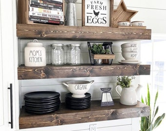 Floating Shelf, Floating Shelves, Farmhouse Decor, Rustic Shelf,  Ledge Shelf, Open Shelving, Planter Shelf
