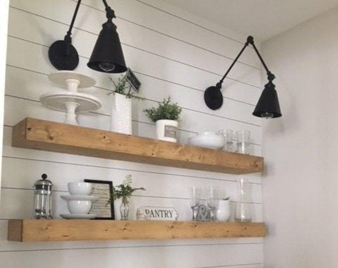 Floating Shelf, Farmhouse Decor, Rustic Shelf,  Ledge Shelf, Open Shelving, Floating Shelves, Nursery Shelf, Shelf