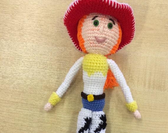 Cowgirl crochet character
