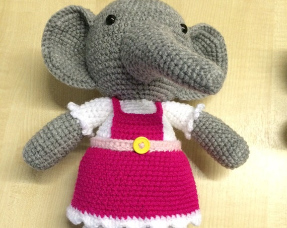 Female crochet elephant