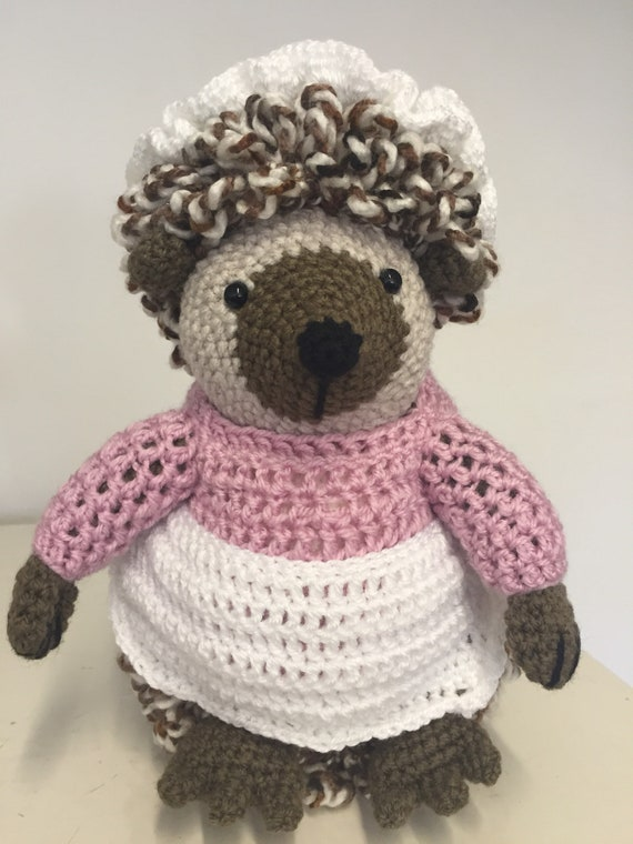 Inspired by Mrs Tiggywinkle crochet character
