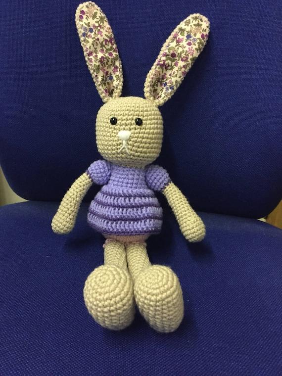 Girl bunny hand crochet
