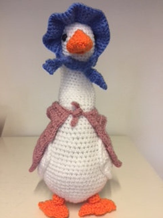 Crochet Duck Pattern inspired by Jemima Puddleduck