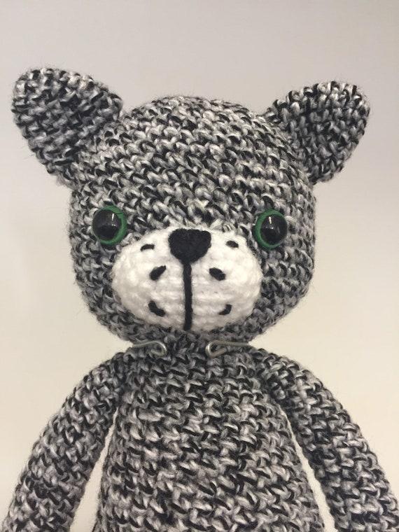 Hand crochet cat
