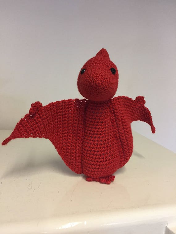 Terry the crochet Pterodactyl