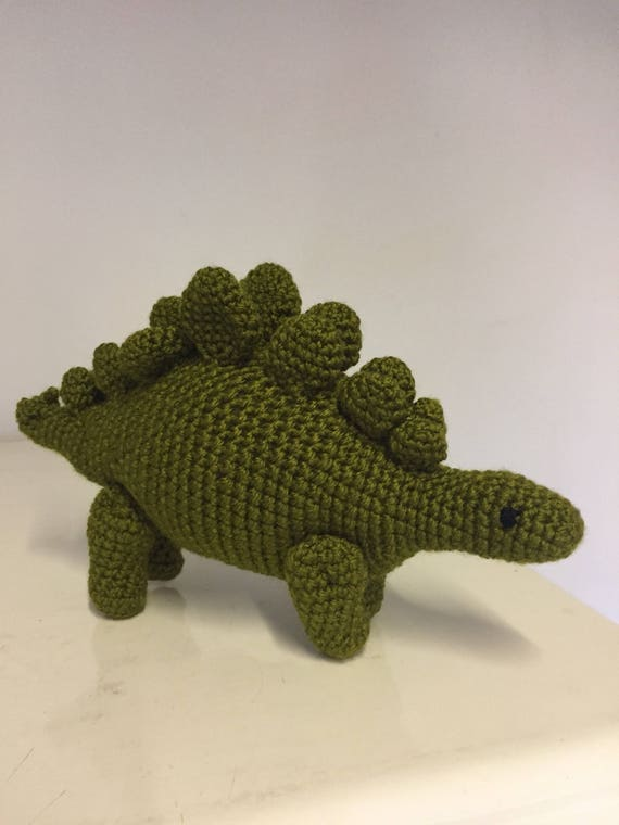 Peggy the crochet Stegosaurus