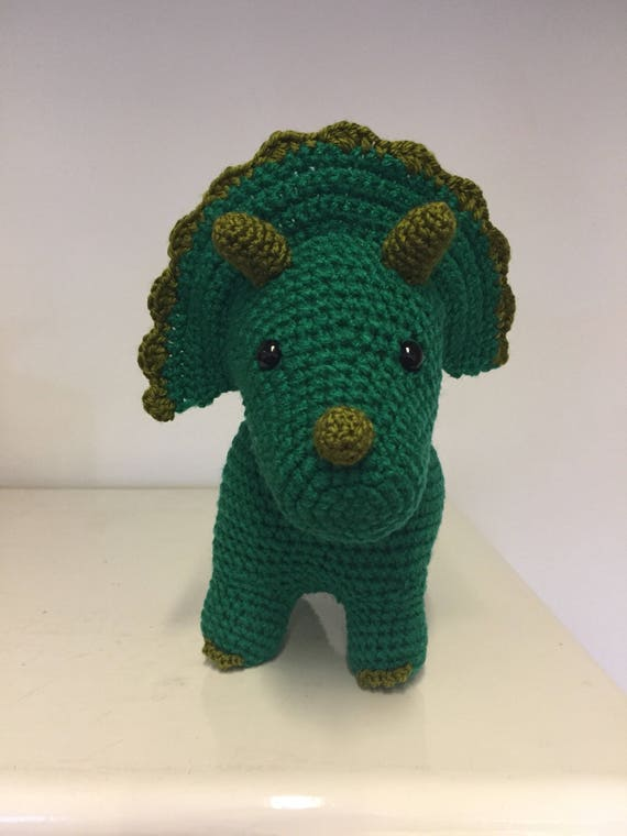 Sarah the crochet triceratops