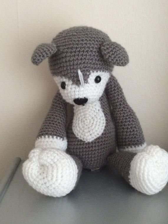 Cute hand crochet husky
