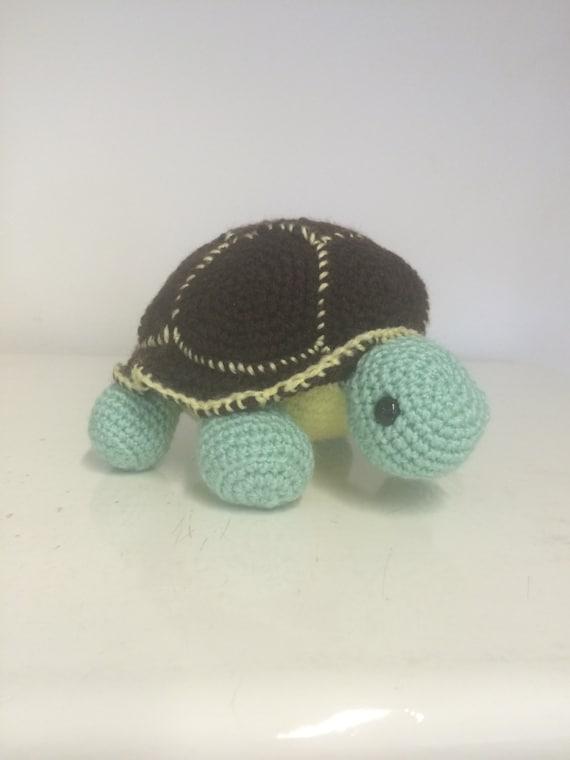 Hand made crochet turtle