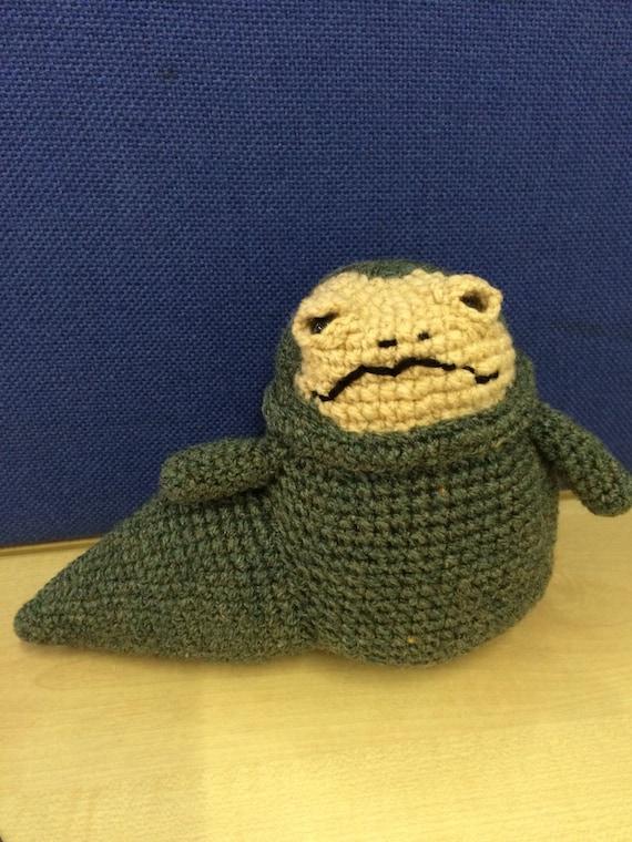 Sci-fi slug Crochet character