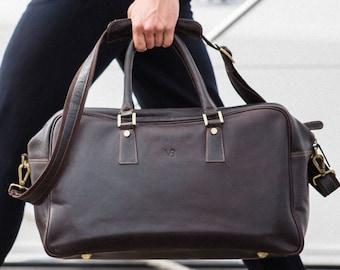 214ae73dde Holdall Travel Leather Bag   Gym   Overnight   Weekender   Duffle