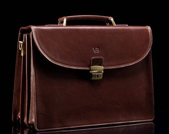 Master Series No.1 mens leather briefcase / men leather briefcase / leather bag for men