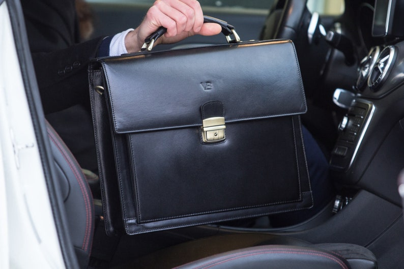 4ea5023454 Leather briefcase men Leather brown briefcase Lawyers bag