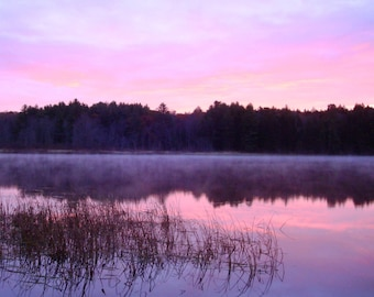 Fall Beauty on Maranacook Lake Photo Card