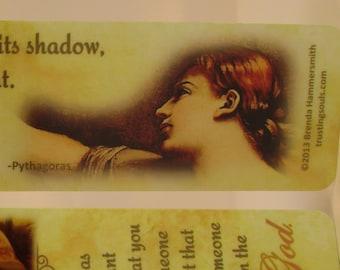 "Affirmation Bookmark~""Eyes Of God"" Laminated Bookmark~Prayer Group~Affirming Teen Girl Bookmark ~Trusting Souls~Abusive Relationship"