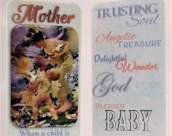 New Mother~Bookmark~Silver Heart Charm~Mother's Day Gift~Expectant Mother~Trusting Souls~Baby Shower