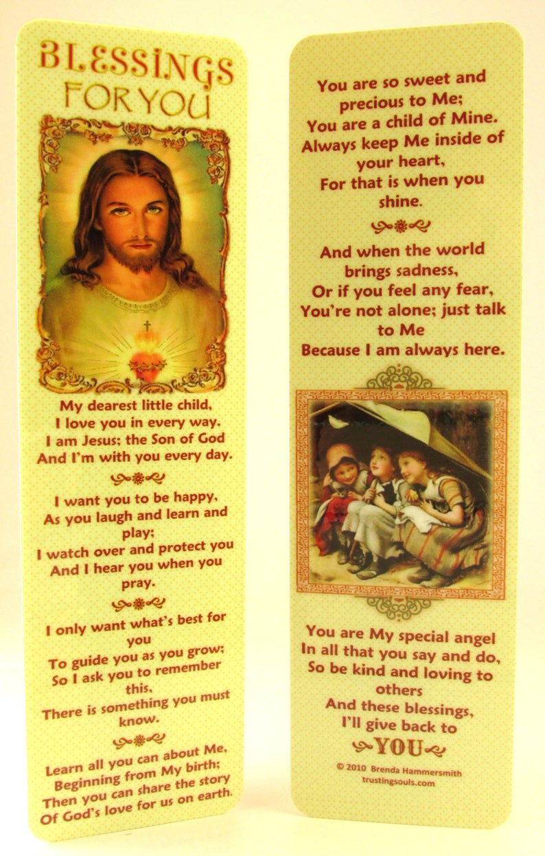 Blessings for Children Bookmark~Girl/No Bullying Prayer for Kids~Teaching  Kids About Jesus~Sunday School Gift~Childs Bible Gift~Easy to Read