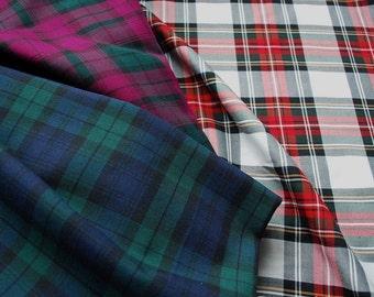 Tartan Fabric - Three of the most Popular Patterns - Blackwatch - Stewart - Sewing Projects - UK Seller