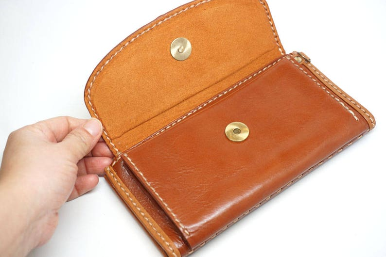 leather wallet with coin pouch Phone wallet leather wallet clutch women leather wallet billfold wallet card holder wallet