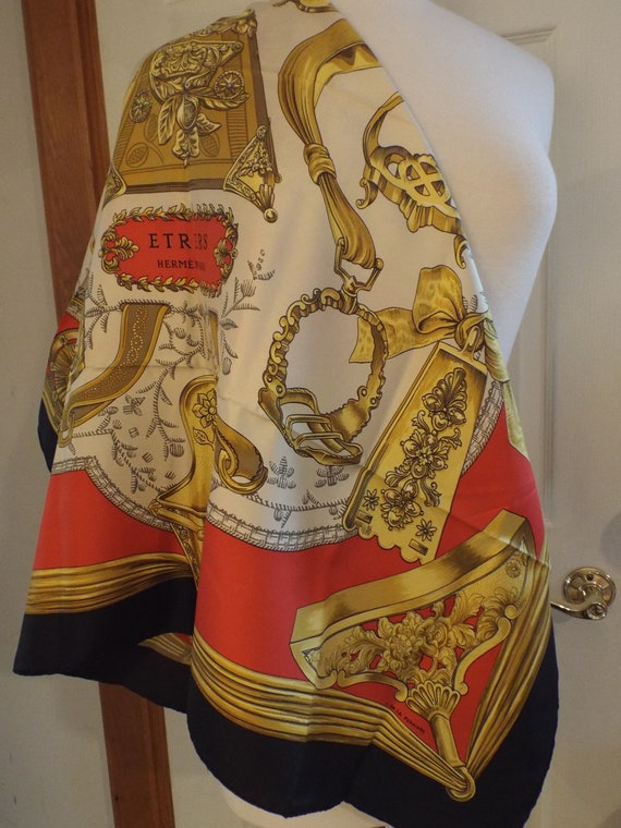 Authentic Hermes ETRIERS Scarf With Box, Gift, Her