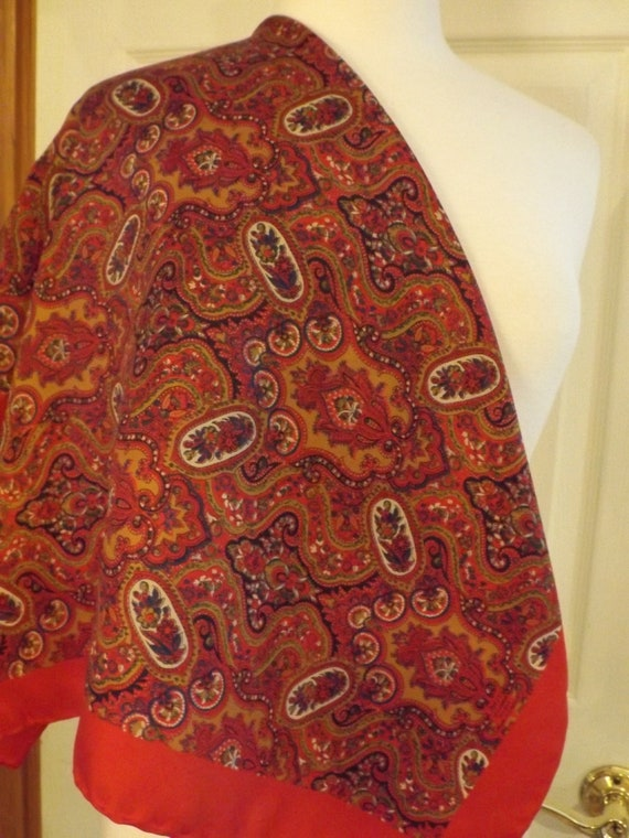 Liberty of London Silk Designer Scarf, Retro Fashi