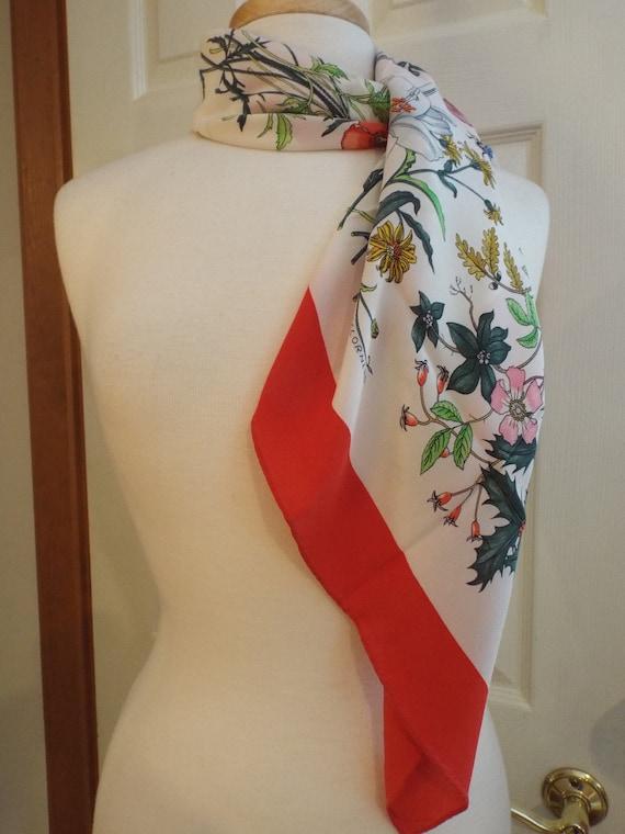 Authentic GUCCI ACCORNERO Floral Scarf, Gucci Mad… - image 5