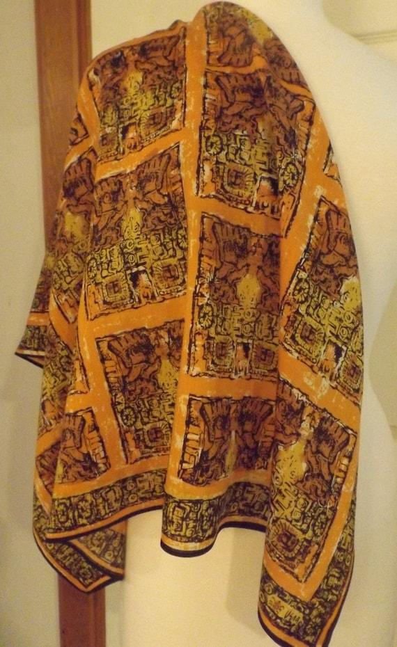 Vera Neumann Ladybug Autumn Colors Silk & Wool Sca