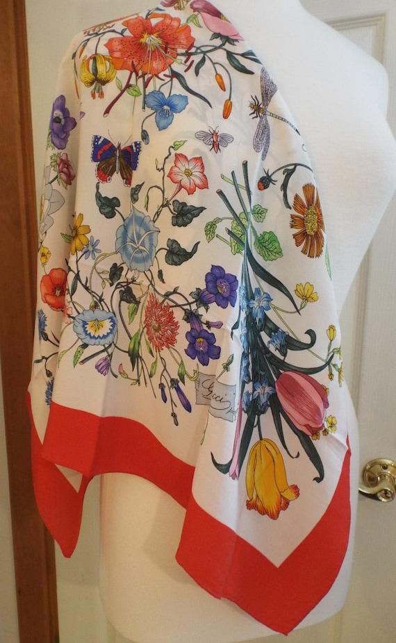 Authentic GUCCI ACCORNERO Floral Scarf, Gucci Mad… - image 1