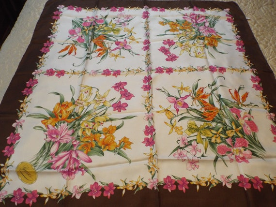 Authentic GUCCI Floral Scarf, Gucci Made in Italy… - image 5