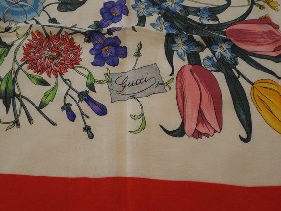 Authentic GUCCI ACCORNERO Floral Scarf, Gucci Mad… - image 7