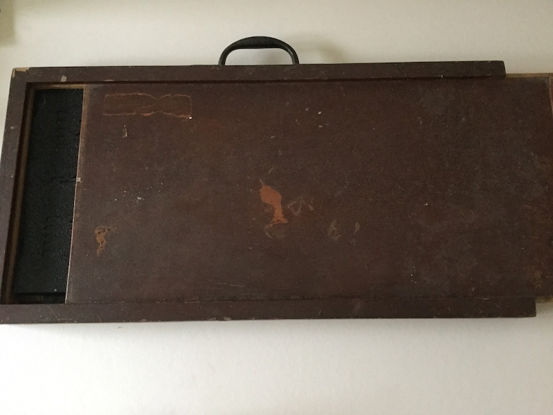 Rare Antique wall stencil set 50/'s decorating set in wooden box