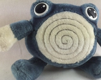 Pokemon Poliwhirl Plush Stuffed Animal - Vintage - 6 inches