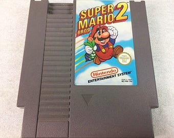 Super Mario Bros 2 NES - Nintendo, 8bit, Mario,