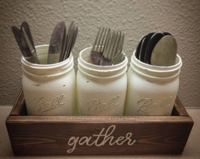 Mason jar tray centerpiece