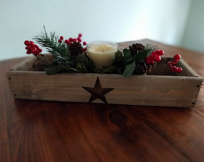 FREE SHIPPING--Rustic Star Tray