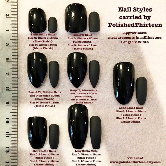 Sample Sizing Nail Kit Faux Nails Fake Nails Sample   Etsy