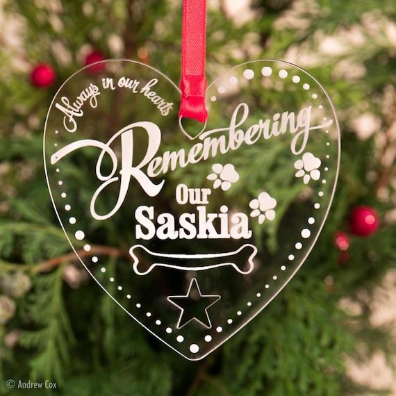 Personnalisé Chien Chat Pet Memorial Arbre de Noël décoration Babiole Cadeau de Noël