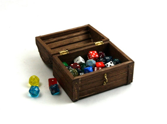 Dungeons And Dragons Dice Box Medium Wooden Dice Box Dnd Etsy