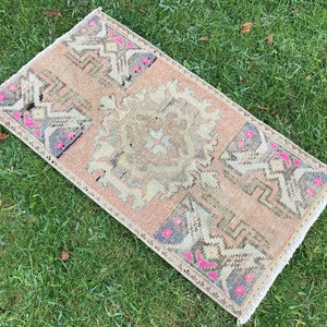 area oushak rug bathroom mat kitchen kilim rug rug 2,9X1,5 Turkish Handmade Vintage small area rug doormat for home decor bathroom rug