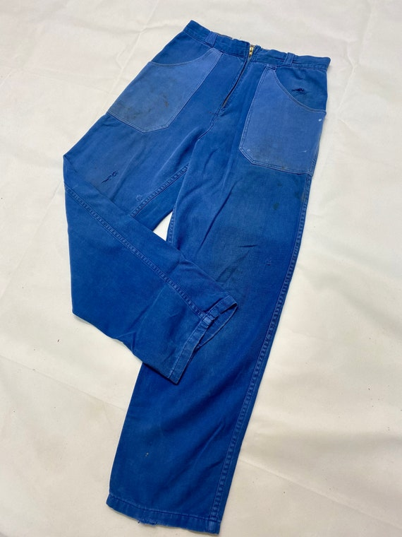 Rare Vintage French Workwear Chore Trousers - image 3