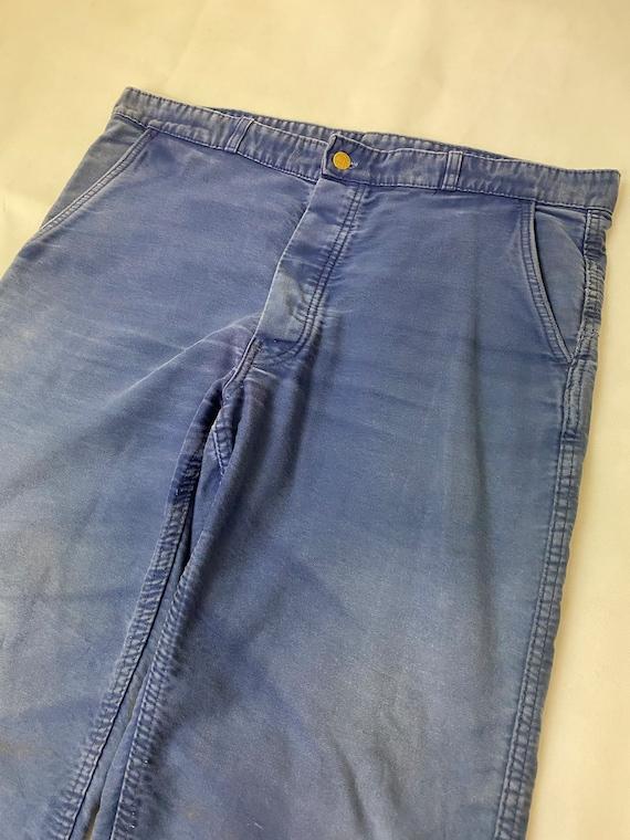 Vintage French Bleu de Travail Workwear Moleskin T