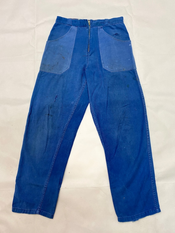 Rare Vintage French Workwear Chore Trousers - image 2
