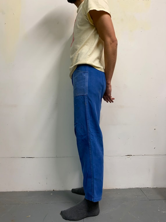 Rare Vintage French Workwear Chore Trousers - image 7