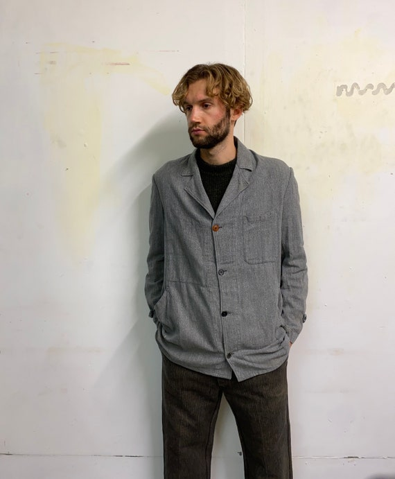 Vintage French Chambray Atelier Workwear Salt and