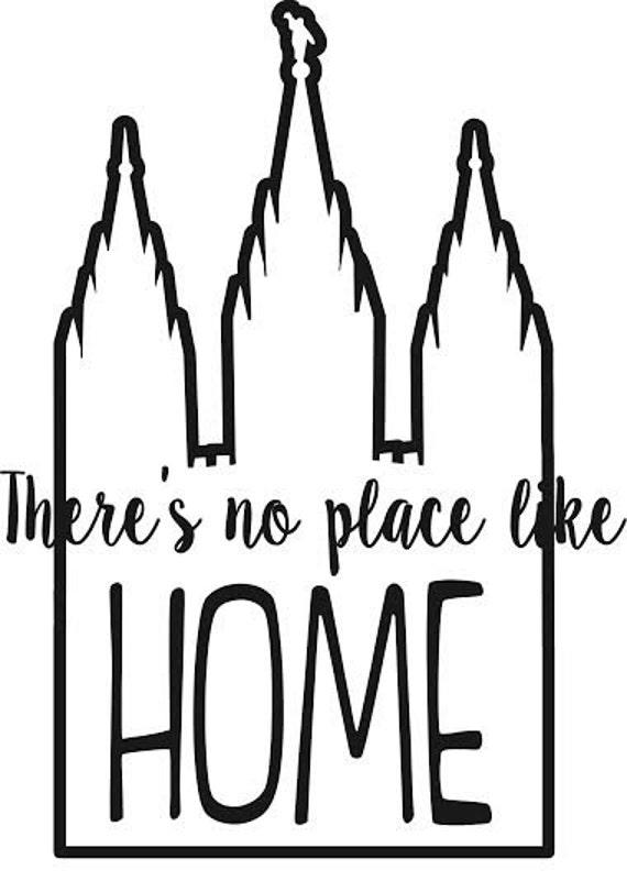 No hay lugar como hogar templo etiqueta del vinilo esquema   Etsy