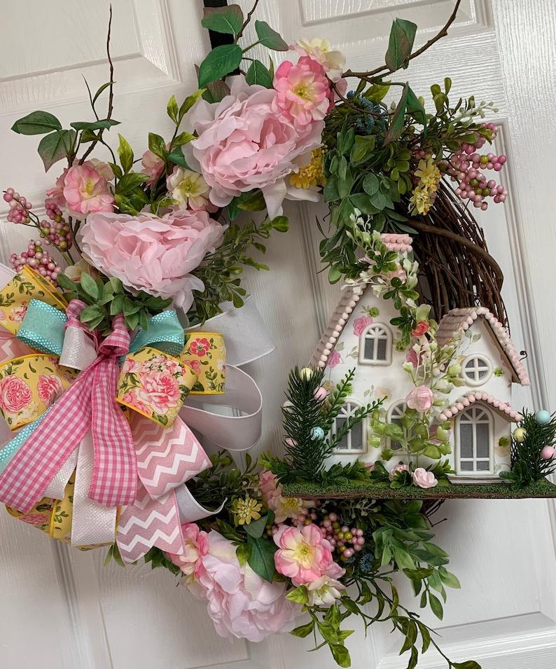 Spring Cottage Wreath Spring Grapevine Everyday Spring Easter Grapevine Wreath