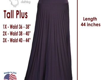 43ffb66d1 Dark Plum Flare Jersey Pleated Maxi Skirt | Modest Long Skirt | Islamic  Clothing TALL XS XL 2XL 3XL