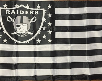 Oakland Raiders Flag NFL 3 x 5 Stars and Stripes